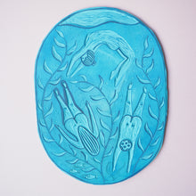 wild swimming lino block