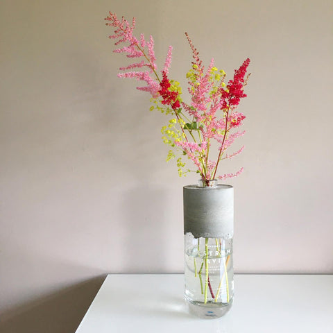 Concrete Bottle Vase