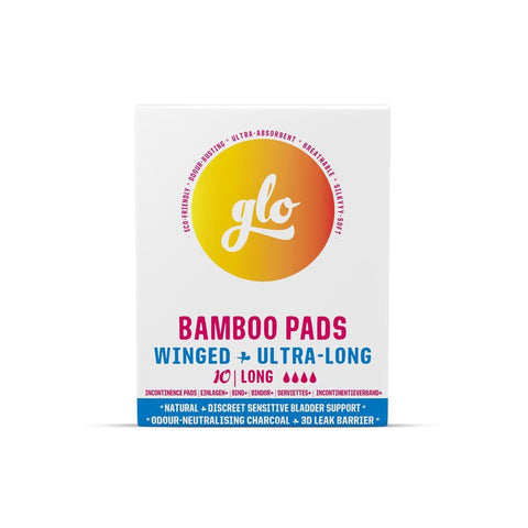 Glo Bamboo Long Pads For Sensitive Bladder