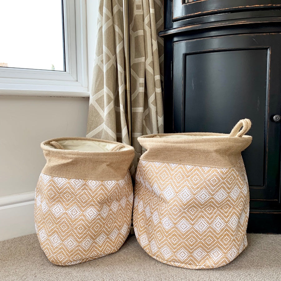 Diamond Print Basket