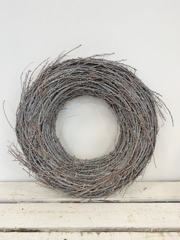 Twig Nest White Washed Wreath