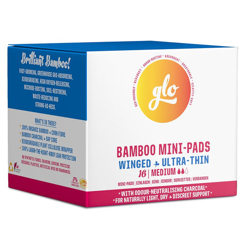 Glo Bamboo Mini-Pads For Sensitive Bladder