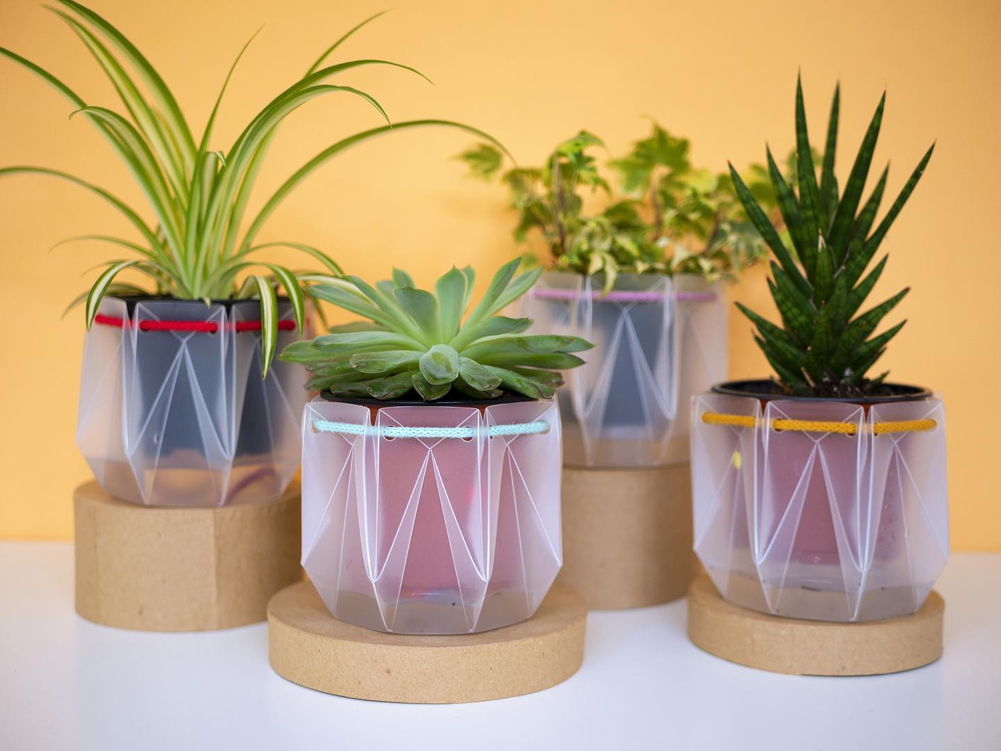 Self-watering Origami Plant Pot (Yellow)