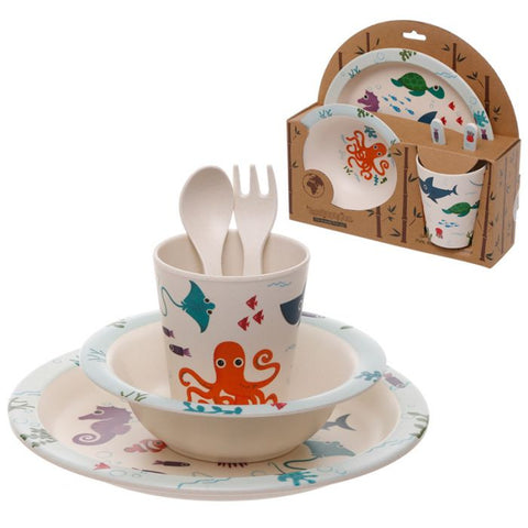 Sealife Bamboo Dinner Set