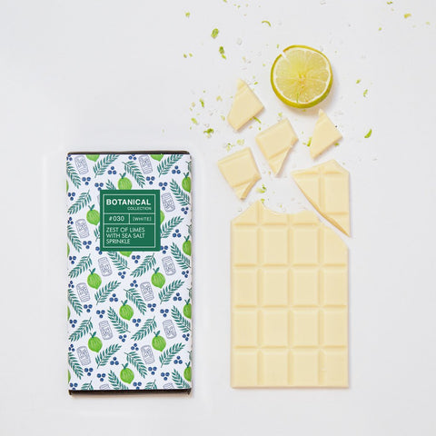 Lime and Sea Salt White Chocolate Bar