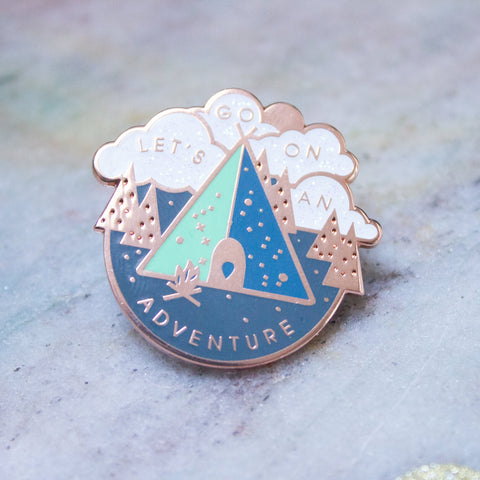 'Let's Go On An Adventure' Pin