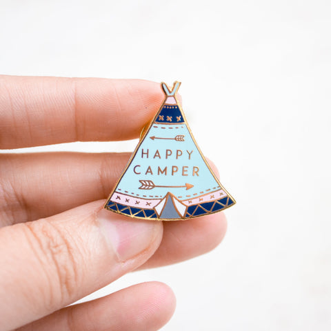 'Happy Camper' Pin