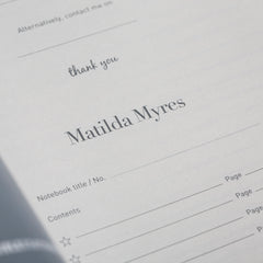 Matilda Myres Rose Gold Lined Notebook