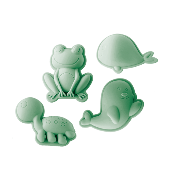 Scrunch Sand Moulds Frog Set