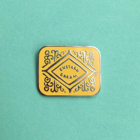 Custard Cream Pin