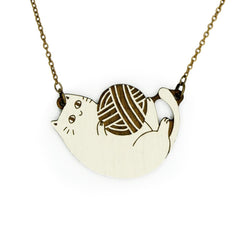 Playful Cats Necklace & Earring Set
