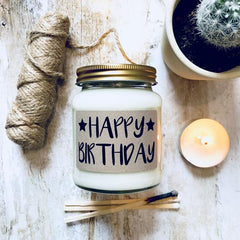 'Happy Birthday' Scented Soy Candle