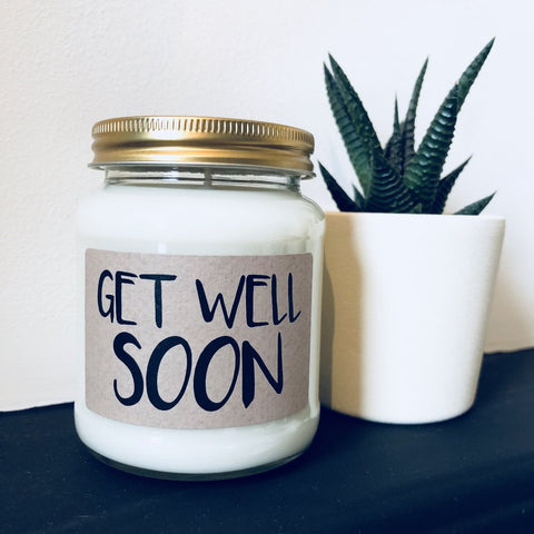 'Get Well Soon' Scented Soy Candle