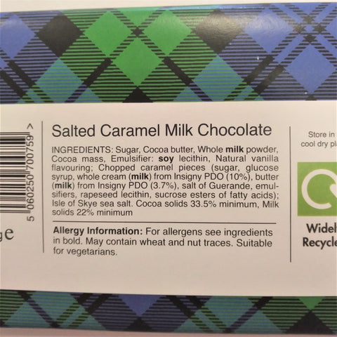 Isle of Skye Sea Salted Caramel Chocolate Bar