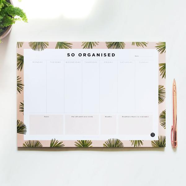 So Organised Desk Planner