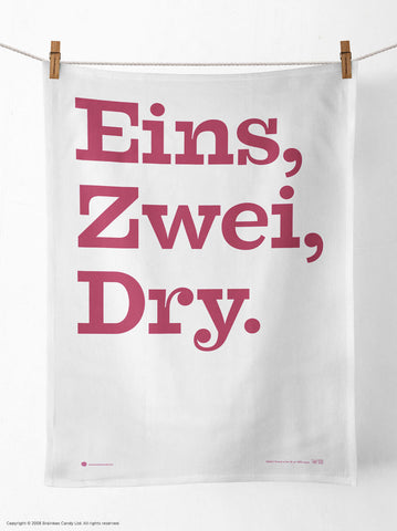 'Eins, Zwei, Dry' Tea Towel