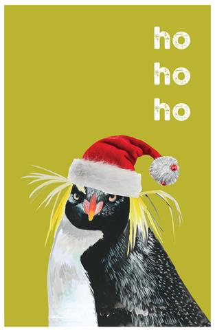 'Ho Ho Ho' Penguin Tea Towel