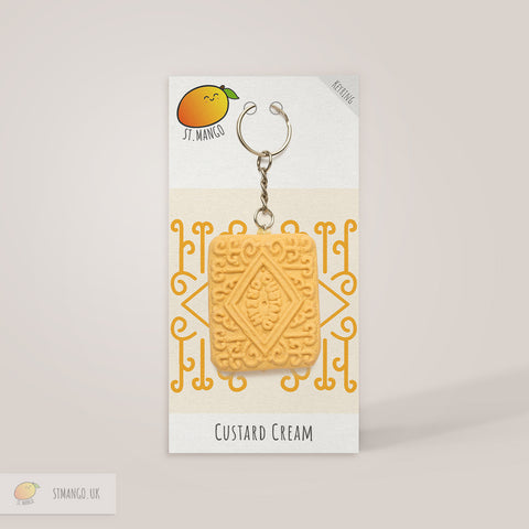 Custard Cream Keyring