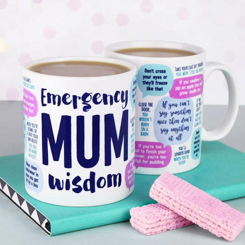'Emergency Mum Wisdom' Mug