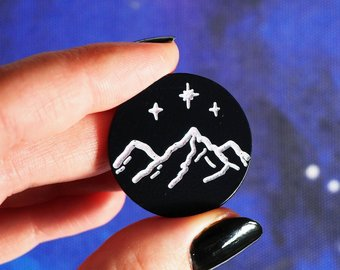 Night Court Mountain Pin
