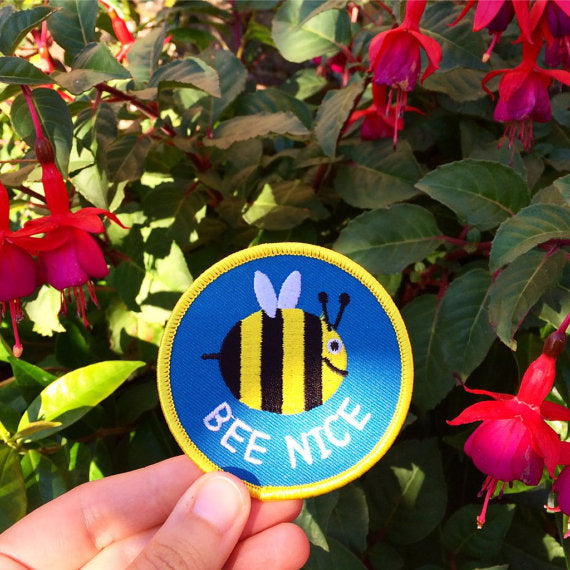 'Bee Nice' Iron-on Patch