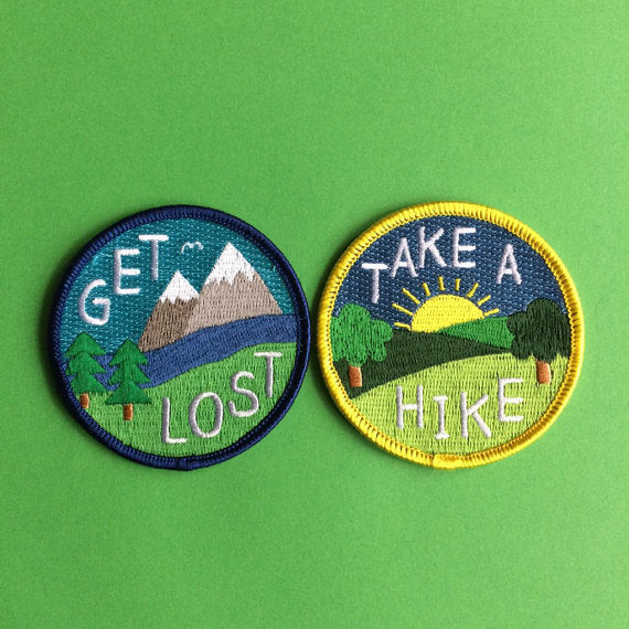 'Take A Hike' Iron-on Patch