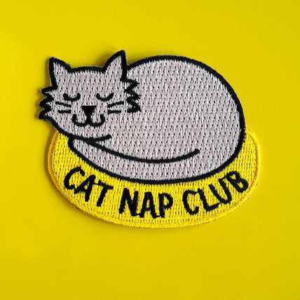 'Cat Nap Club' Iron-on Patch