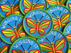 'Winging It' Iron-on Patch