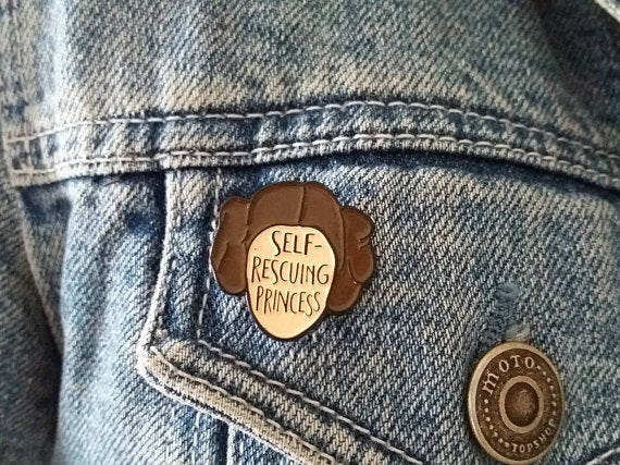 'Self-rescuing Princess' Pin