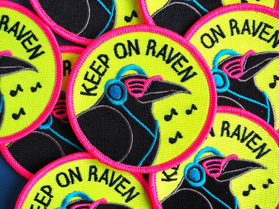 'Keep On Raven' Iron-on Patch