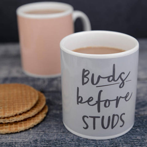 'Buds Before Studs' Mug