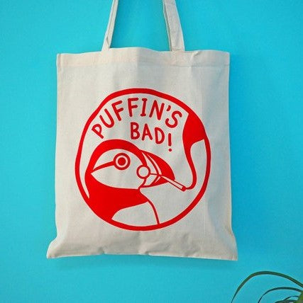 'Puffin's Bad' Tote Bag