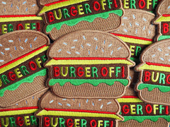'Burger Off' Iron-on Patch