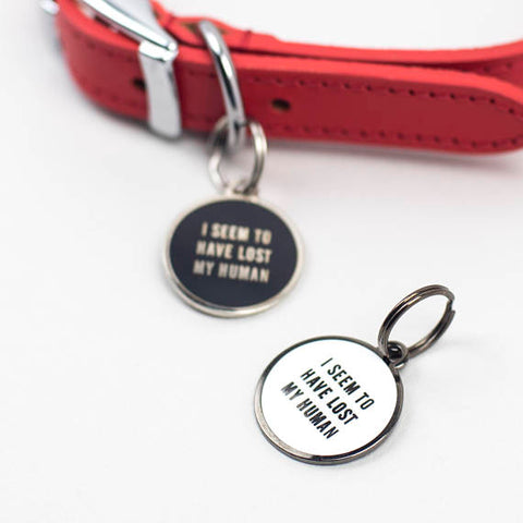 'Lost My Human' Pet ID Tag