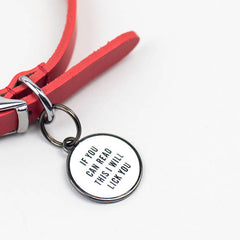 'Lick Your Face' Pet ID Tag