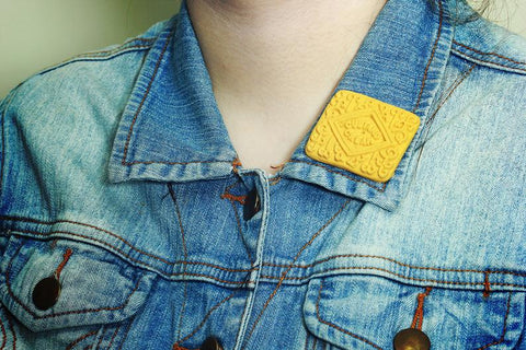 Custard Cream Badge