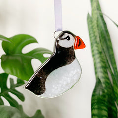 Puffin Glass Decoration