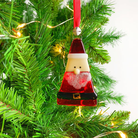 Santa Glass Decoration