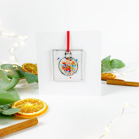 Bauble Glass Decoration Greetings Card