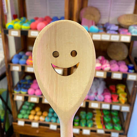 Smiley Wooden Spoon