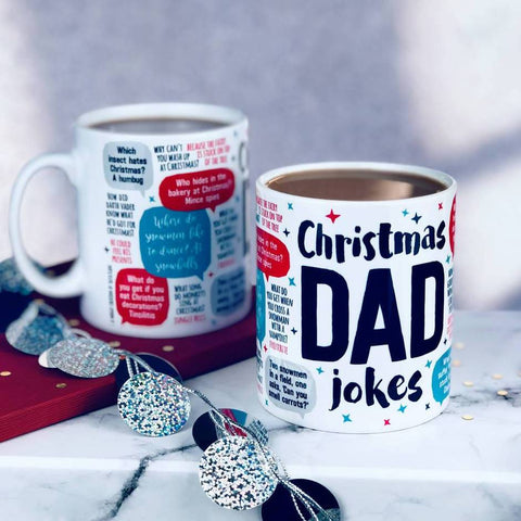 'Emergency Christmas Dad Jokes' Mug