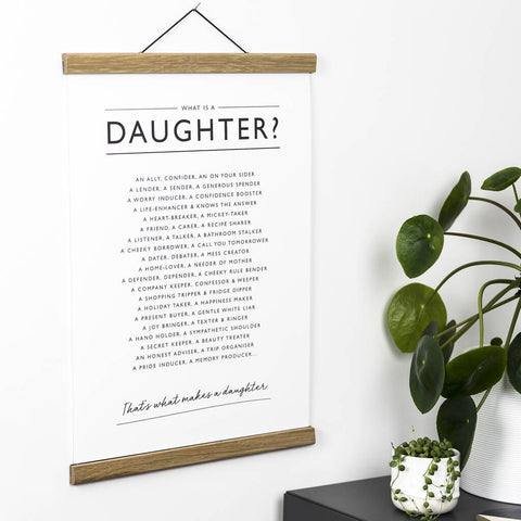 'What is a Daughter?' Print