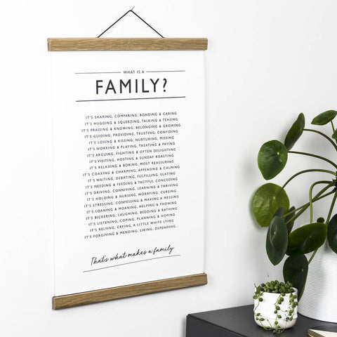 'What is a Family?' Print