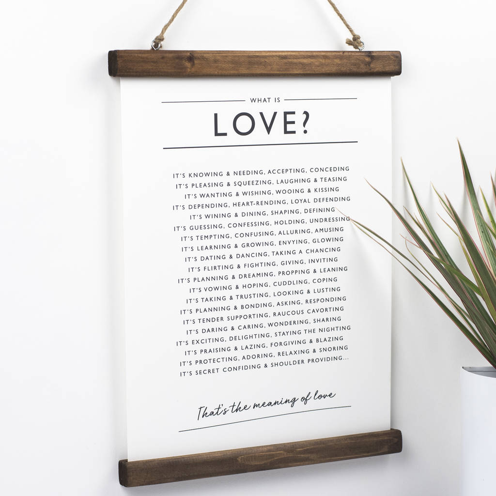 'What is Love?' Print