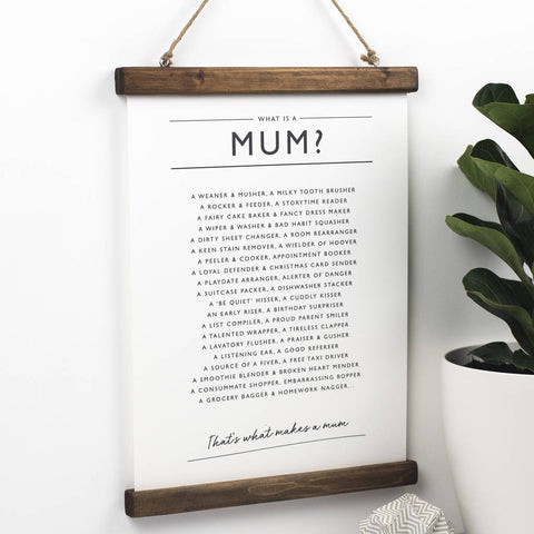 'What is a Mum?' Print