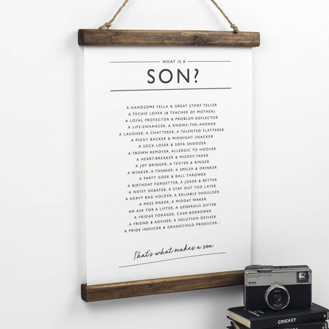 'What is a Son?' Print