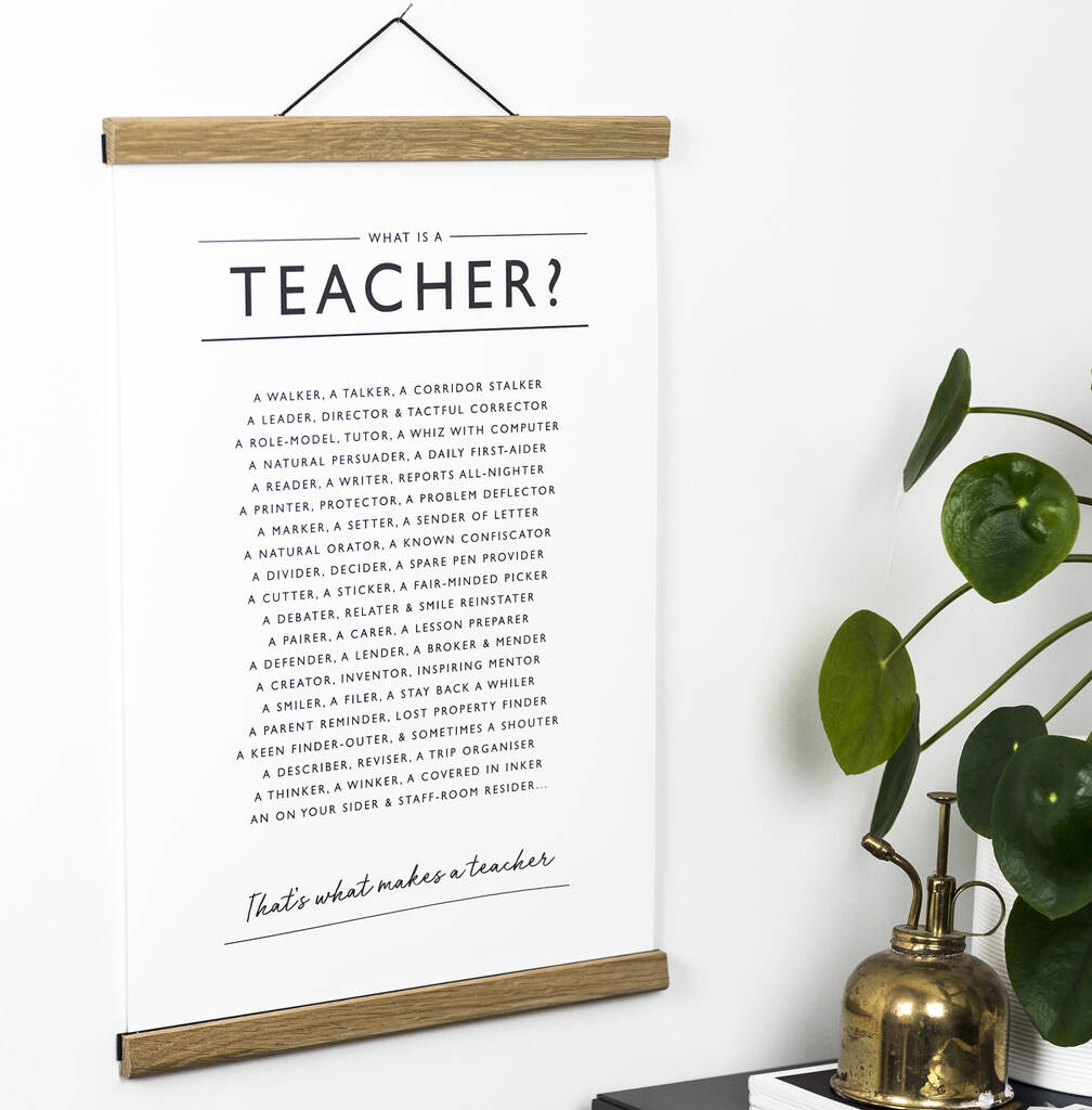 'What is a Teacher?' Print