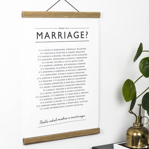 'What is a Marriage?' Print