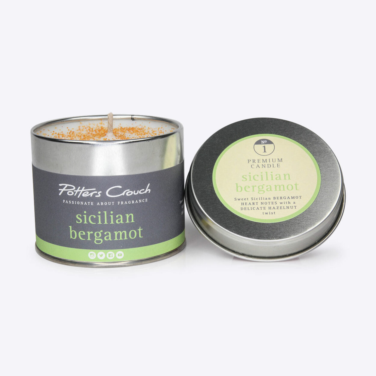 Sicilian Bergamot Scented Candle in a Tin