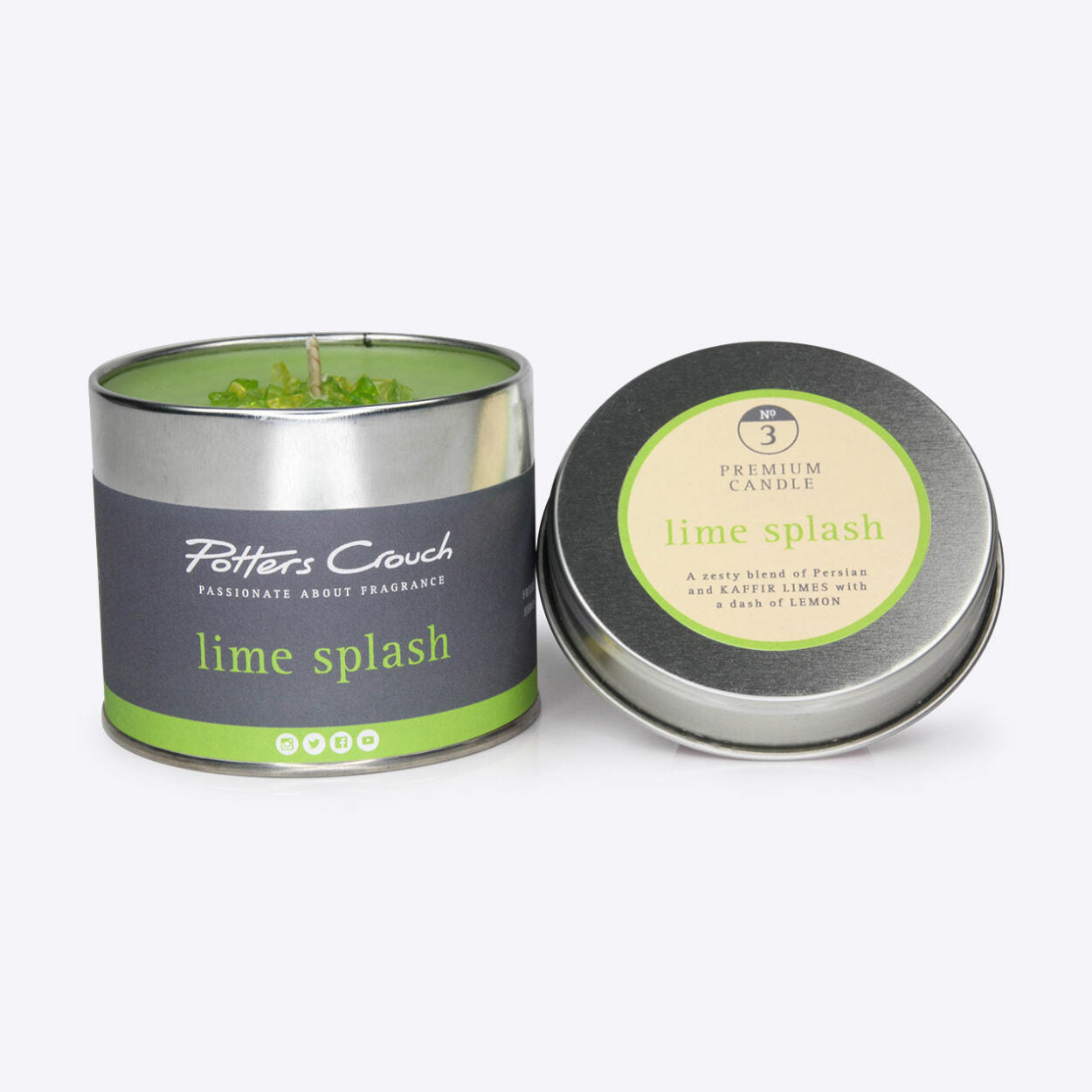 Lime Splash Scented Candle in a Tin